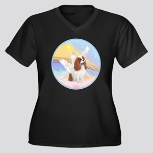 R-Clouds - B Women's Plus Size Dark V-Neck T-Shirt