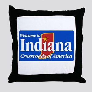 Welcome to Indiana - USA Throw Pillow