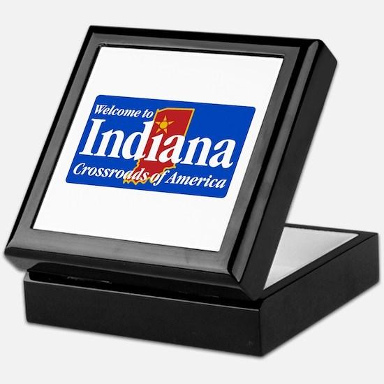 Welcome to Indiana - USA Keepsake Box