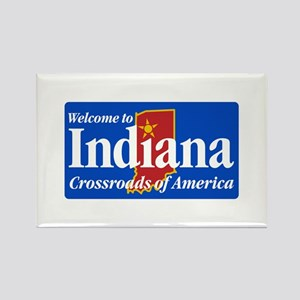 Welcome to Indiana - USA Rectangle Magnet