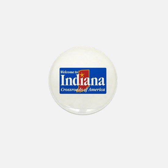 Welcome to Indiana - USA Mini Button
