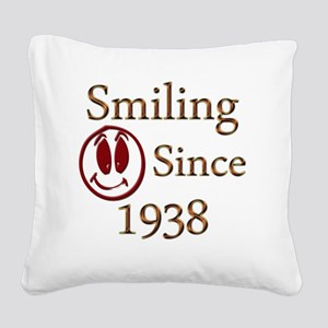 smiling 38 Square Canvas Pillow