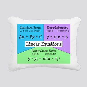 Linear Equations Rectangular Canvas Pillow