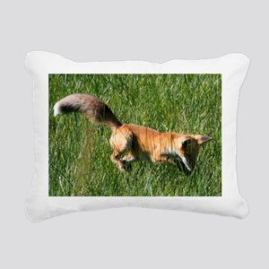 Red fox Rectangular Canvas Pillow