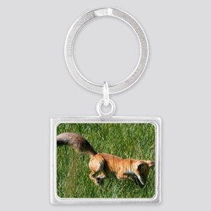 Red fox Landscape Keychain