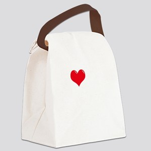 I-Love-My-Dogue-de-Bordeaux-dark Canvas Lunch Bag