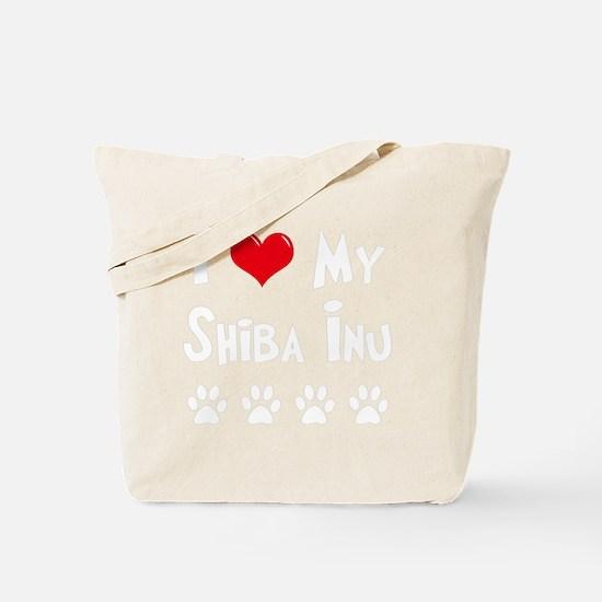 I-Love-My-Shiba-Inu-dark Tote Bag