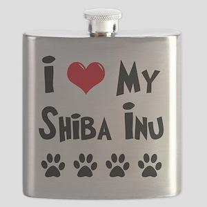 I-Love-My-Shiba-Inu Flask