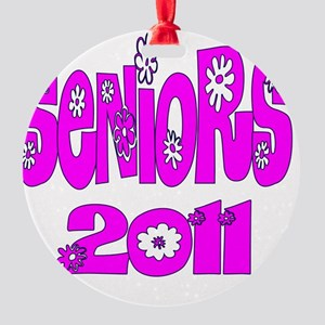 bloomster pink 2011 Round Ornament