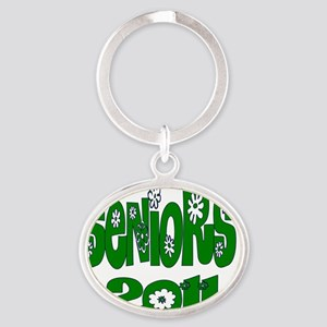 bloomster green 2011 Oval Keychain
