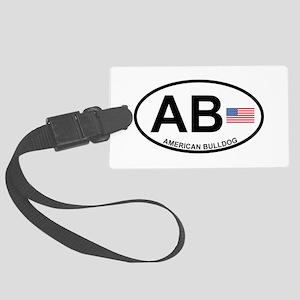 American-Bulldog Large Luggage Tag