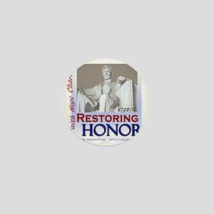 2-Restoring Honor poster Mini Button