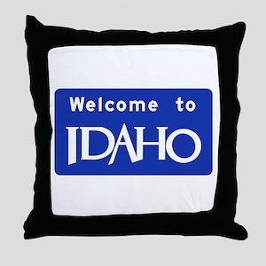 Welcome to Idaho - USA Throw Pillow