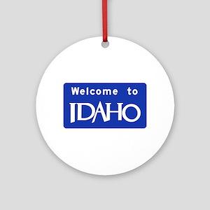 Welcome to Idaho - USA Ornament (Round)