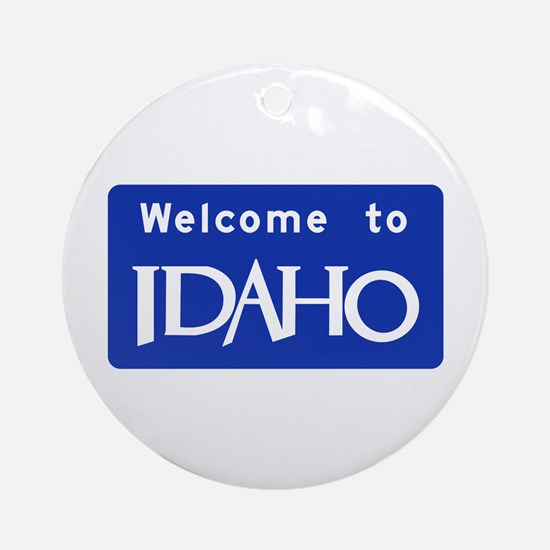 Welcome to Idaho - USA Ornament (Round)