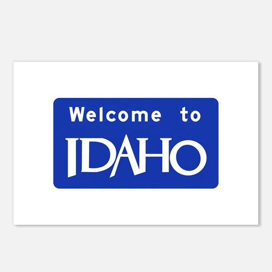 Welcome to Idaho - USA Postcards (Package of 8)