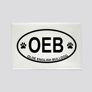 Olde-English-Bulldog Rectangle Magnet