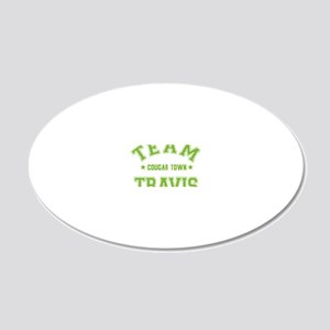 cougar-town_team-travis 20x12 Oval Wall Decal