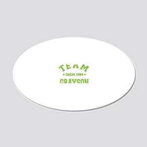 cougar-town_team-grayson 20x12 Oval Wall Decal