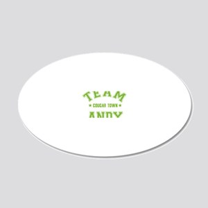 cougar-town_team-andy 20x12 Oval Wall Decal