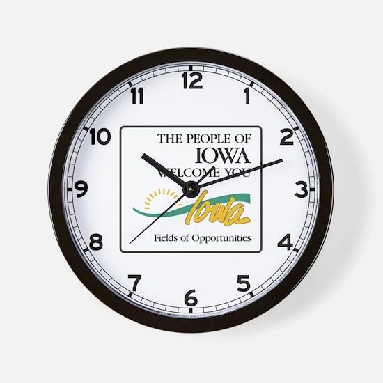 Welcome to Iowa - USA Wall Clock