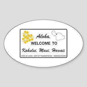 Welcome to Hawaii - USA Oval Sticker
