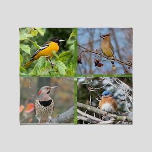 Song Birds Throw Blanket