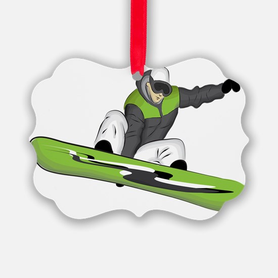 SnowboarderPocket Ornament