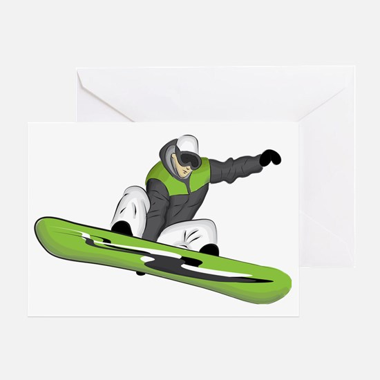 SnowboarderPocket Greeting Card