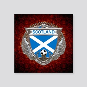 "Scotland Soccer Keepsake Bo Square Sticker 3"" x 3"""