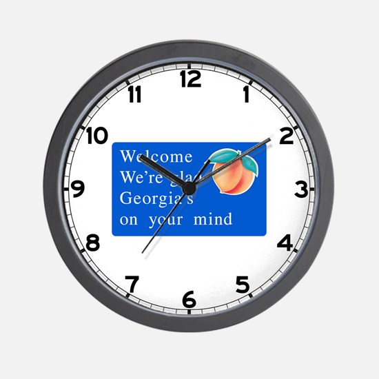 Welcome to Georgia - USA Wall Clock
