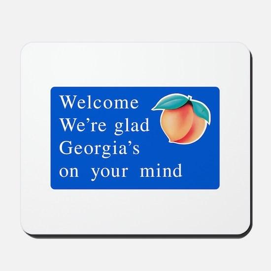 Welcome to Georgia - USA Mousepad