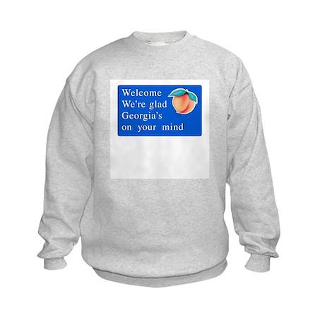 Welcome to Georgia - USA Kids Sweatshirt