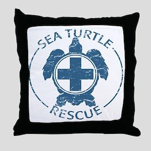 seaturtlerescue Throw Pillow