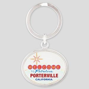 PORTERVILLE Oval Keychain