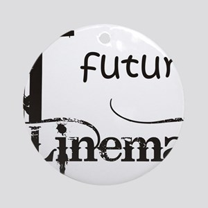 future lineman1_black Round Ornament