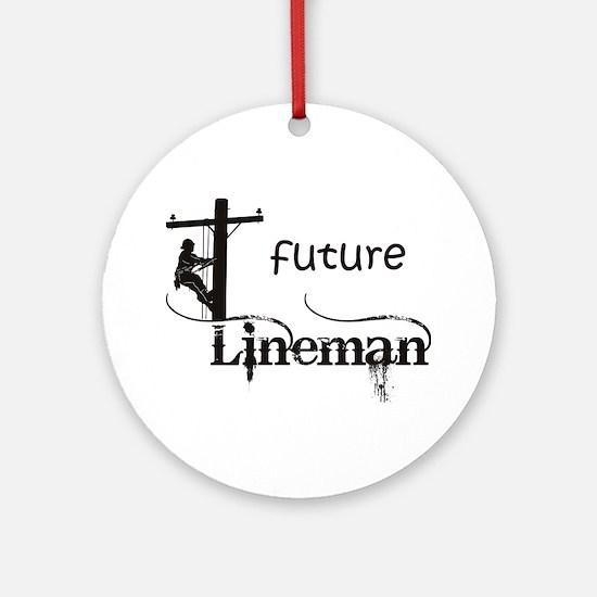 future lineman1_black Round Ornament