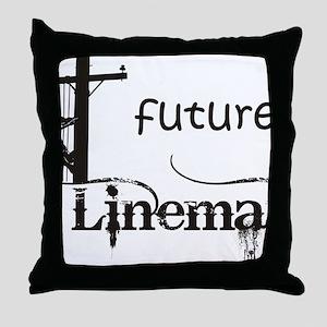 future lineman1_black Throw Pillow