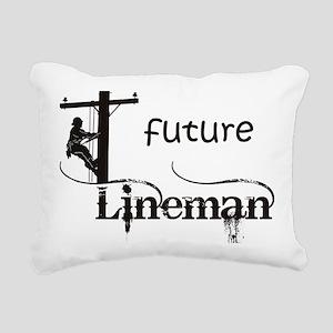 future lineman1_black Rectangular Canvas Pillow