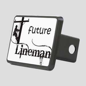 future lineman1_black Rectangular Hitch Cover