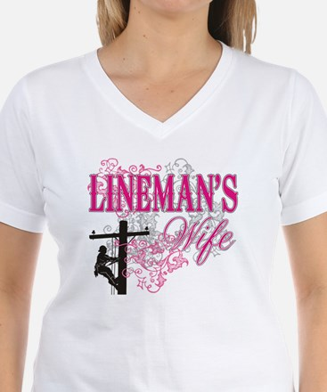 linemans wife3 white Shirt