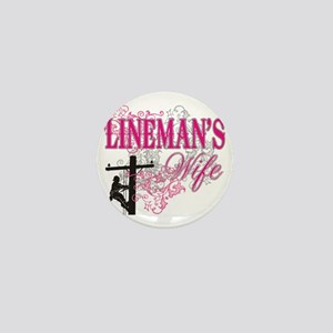 linemans wife3 white Mini Button