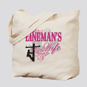 linemans wife3 white Tote Bag