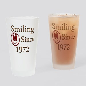 smiling 72 Drinking Glass