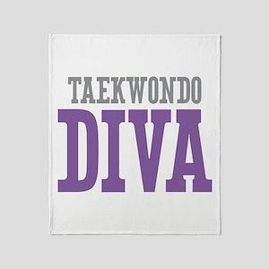 Taekwondo DIVA Throw Blanket