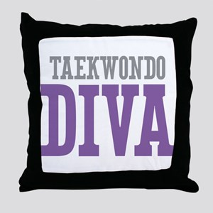 Taekwondo DIVA Throw Pillow