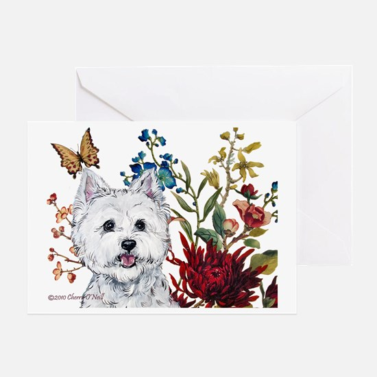 Westie 4.5x5.75 notecard Greeting Card