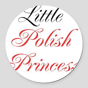 Little Polish Princess Round Car Magnet