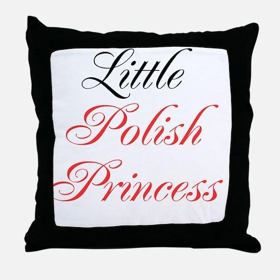 Little Polish Princess Throw Pillow