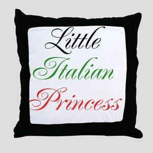 Little Italian Princess Throw Pillow